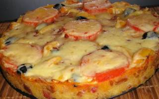 Пицца в микроволновке из хлеба