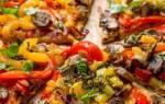 Пицца на сковороде без сыра