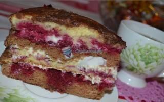Торт с вишней и сгущенкой