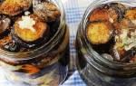 Баклажаны жареные с чесноком и помидорами на зиму