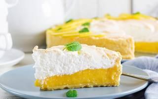 Торт лимонная меренга