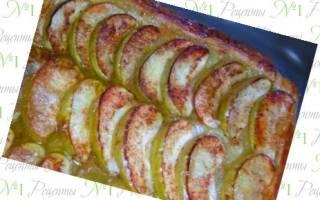 Пирог из замороженных яблок