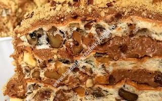 Торт без муки с орехами