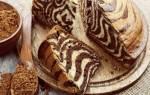 Пирог зебра на майонезе