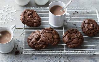 Печенье шоколадное с какао
