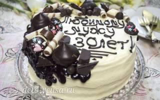 Торт с какао и сгущенкой